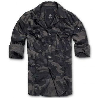 košele pánska BRANDIT - Men Shirt Slim Darkcamo, BRANDIT