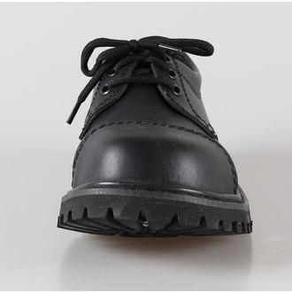 topánky kožené 3dírkové BRANDIT - Phantom Black, BRANDIT