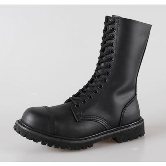 topánky kožené 14dírkové BRANDIT - Phantom Black - 9003/2