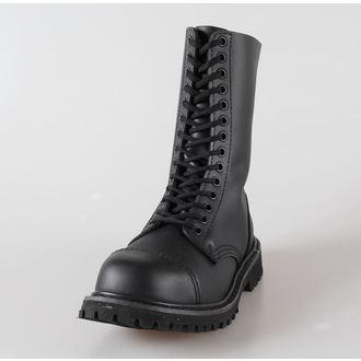 topánky kožené 14dírkové BRANDIT - Phantom Black, BRANDIT