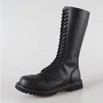 topánky kožené 20dírkové BRANDIT - Phantom Black, BRANDIT