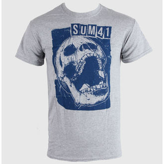 tričko pánske SUM 41 - Skull Sports - Grey - LIVE NATION, LIVE NATION, Sum 41