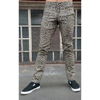 nohavice pánske 3RDAND56th - Leopard Skinny Jeans - Natural Leo, 3RDAND56th