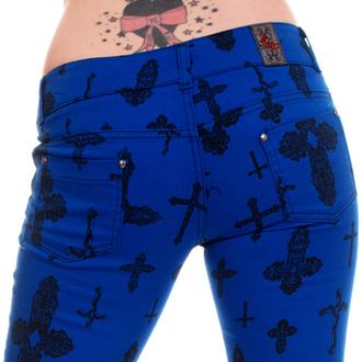 8ba86c4fe2c1 nohavice dámske 3RDAND56th - Cross Skinny Jeans - Royal - JM1163 ...
