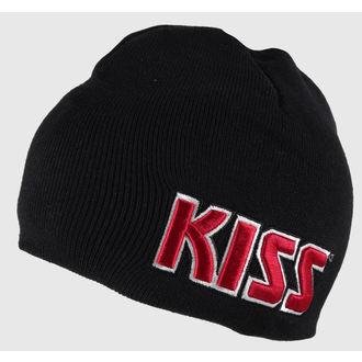 čiapka Kiss - Red on White Logo - ROCK OFF, ROCK OFF, Kiss