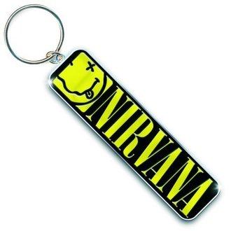 kľúčenka (prívesok) Nirvana - Smiley & Logo - ROCK OFF, ROCK OFF, Nirvana