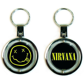 kľúčenka (prívesok) Nirvana - Smiley Spinner - ROCK OFF, ROCK OFF, Nirvana