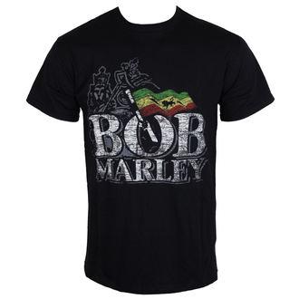 tričko pánske Bob Marley - Distressed Logo - Black - ROCK OFF, ROCK OFF, Bob Marley