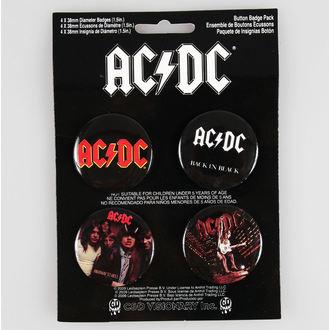 odznaky AC/DC - CDV, C&D VISIONARY, AC-DC