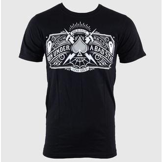 tričko pánske LIQUOR BRAND - Bad Star - Logo - Black, LIQUOR BRAND