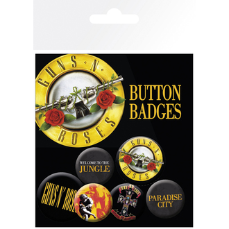 odznaky Guns'n Roses - Lyrics And Logos, GB posters, Guns N' Roses