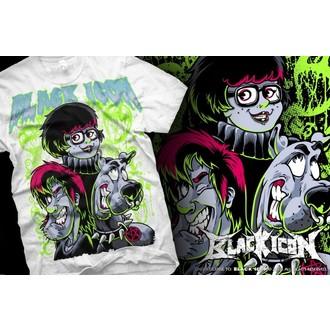 tričko pánske BLACK ICON - Scooby - White - MICON008