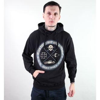 mikina pánska s kapucňou BLACK HEART - Circle Skull