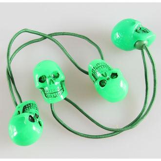 gumička do vlasov KREEPSVILLE SIX SIX SIX - Skull - Green - HBSG