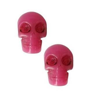 náušnice KREEPSVILLE SIX SIX SIX - Skull - Pink, KREEPSVILLE SIX SIX SIX