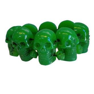 náramok KREEPSVILLE SIX SIX SIX - Skull - Green, KREEPSVILLE SIX SIX SIX