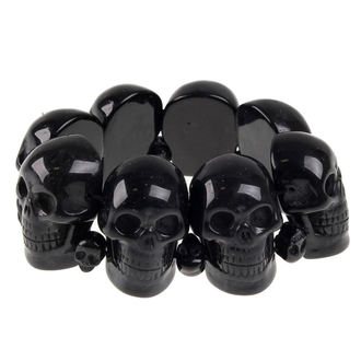 náramok KREEPSVILLE SIX SIX SIX - Skull - Black - BRASB