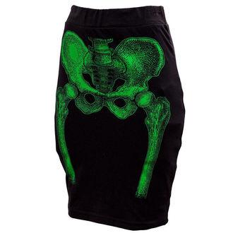 sukňa dámska KREEPSVILLE SIX SIX SIX - Skeleton Pencil - Green, KREEPSVILLE SIX SIX SIX