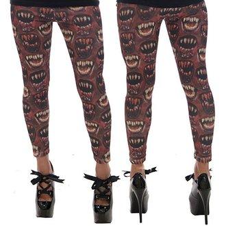 nohavice dámske (legíny) KREEPSVILLE SIX SIX SIX - Monster Mouth - Red, KREEPSVILLE SIX SIX SIX