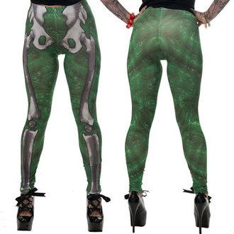 nohavice dámske (legíny) KREEPSVILLE SIX SIX SIX - Skele-Bone - Slime
