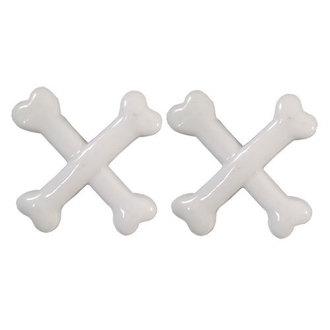 sponky KREEPSVILLE SIX SIX SIX - Crossbones - White, KREEPSVILLE SIX SIX SIX