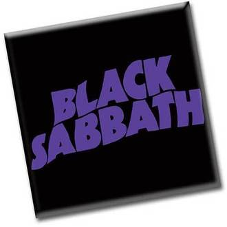 magnet Black Sabbath - Wavy Logo - ROCK OFF, ROCK OFF, Black Sabbath