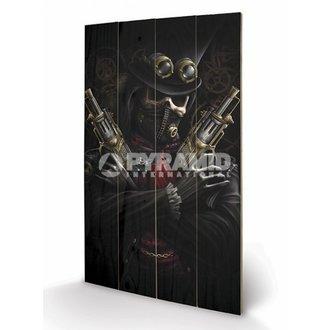 drevený obraz Spiral - Steampunk Bandit - PYRAMID POSTERS, SPIRAL