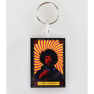 kľúčenka (prívesok) Jimi Hendrix - Pyschedelic - PYRAMID POSTERS, PYRAMID POSTERS, Jimi Hendrix