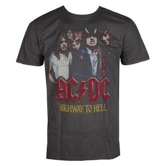 tričko pánske AC/DC - Vintage Highway - Charcoal - LIVE NATION, LIVE NATION, AC-DC