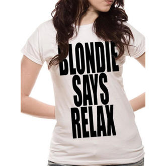 tričko dámske Blondie - Says Relax - White - LIVE NATION, LIVE NATION, Blondie