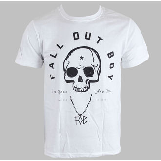 tričko pánske Fall Out Boy - Headdress - White - LIVE NATION, LIVE NATION, Fall Out Boy