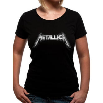 tričko dámske Metallica - Spiked Logo - Black - LIVE NATION, Metallica
