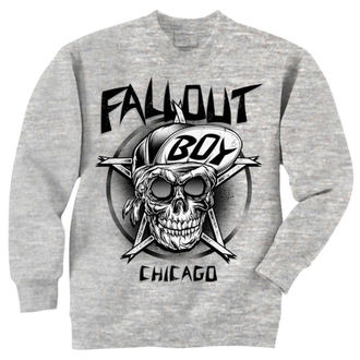 mikina pánska Fall Out Boy - Skull - Grey - LIVE NATION, LIVE NATION, Fall Out Boy