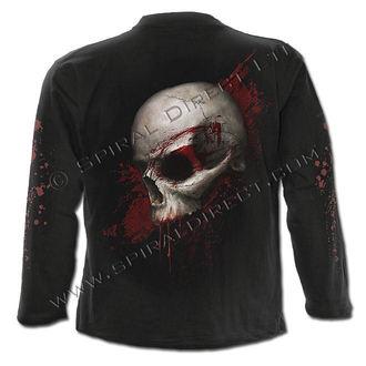 tričko pánske s dlhým rukávom SPIRAL - Skull Shock