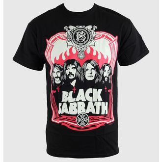 tričko pánske Black Sabbath - Red Flames - Blk - BRAVADO