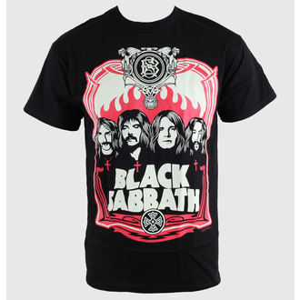tričko pánske Black Sabbath - Red Flames - Blk - BRAVADO, BRAVADO, Black Sabbath