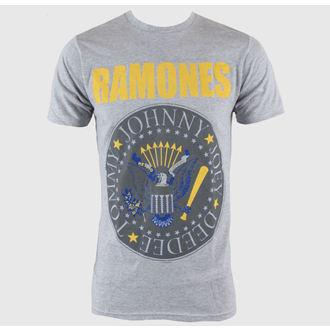 tričko pánske Ramones - Y&B Seal - Heather Grey - BRAVADO, BRAVADO, Ramones