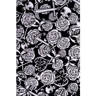 šaty dámske HELL BUNNY - Avalon Mini - Blk/Wht - 4306