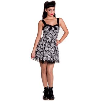 šaty dámske HELL BUNNY - Avalon Mini - Blk/Wht, HELL BUNNY