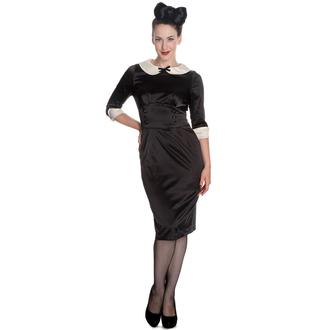 šaty dámske HELL BUNNY - Moneypenny - Blk/Ivory, HELL BUNNY