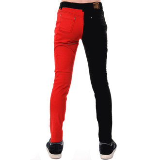 nohavice pánske 3RDAND56th - Split Leg Skinny - Blk/Red, 3RDAND56th