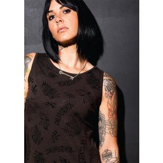 šaty dámske SANTA CRUZ - Tattoo - Vintage Black, SANTA CRUZ