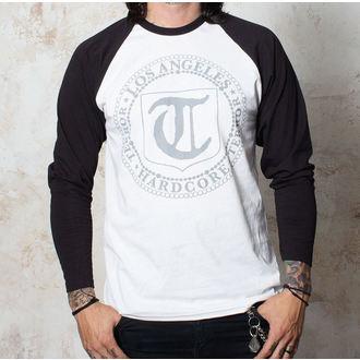 tričko pánske s dlhým rukávom Terror - Badge - White / Black - BUCKANEER, Buckaneer, Terror