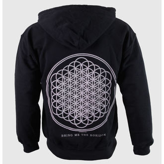 mikina pánska Bring Me The Horizon - Flower Of Life Zips - Blk - ROCK OFF, ROCK OFF, Bring Me The Horizon
