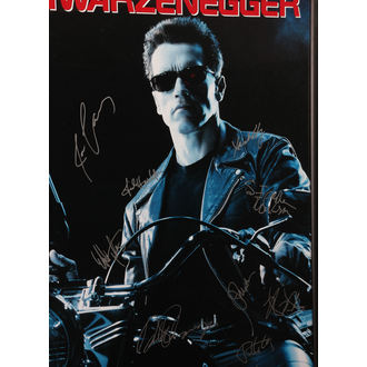 plagát s podpisy Terminator 2, ANTIQUITIES CALIFORNIA