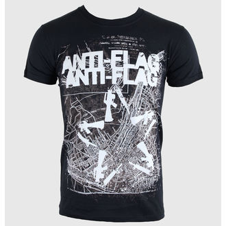 tričko pánske Anti-Flag - Gun Star Map - Black - KINGS ROAD, KINGS ROAD, Anti-Flag