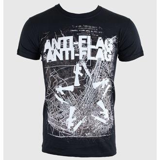 tričko pánske Anti-Flag - Gun Star Map - Black - KINGS ROAD - 39677