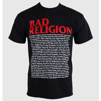 tričko pánske Bad Religion - Song List - Black - 00384, KINGS ROAD, Bad Religion