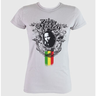 tričko dámske Ziggy Marley - Peaceful - Grey - KINGSROAD, KINGS ROAD, Ziggy Marley