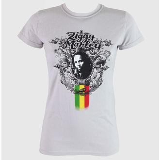 tričko dámske Ziggy Marley - Peaceful - Grey - KINGSROAD, KINGS ROAD, Ziggy Marley